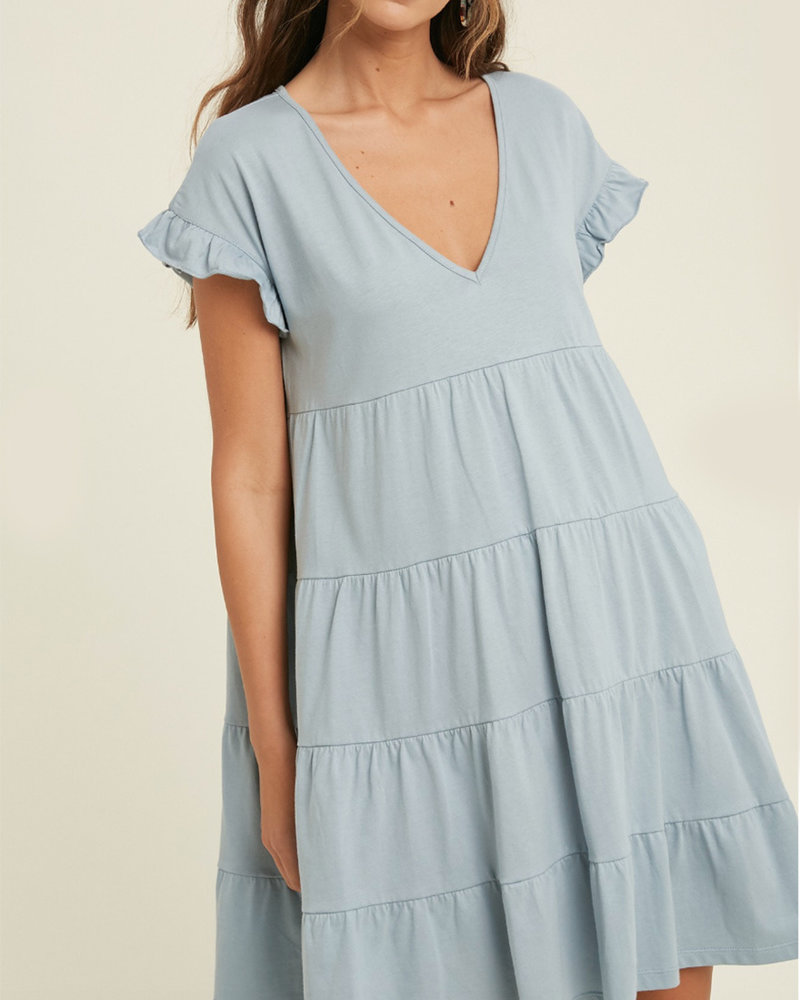 Meredith S/S Tiered Babydoll Dress