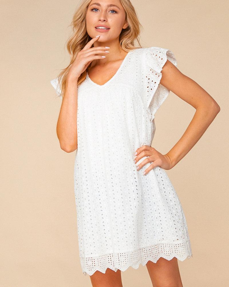 Kasey Eyelet Embroidered Dress