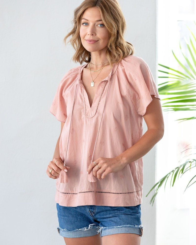 Blush Worthy Embroidered Top
