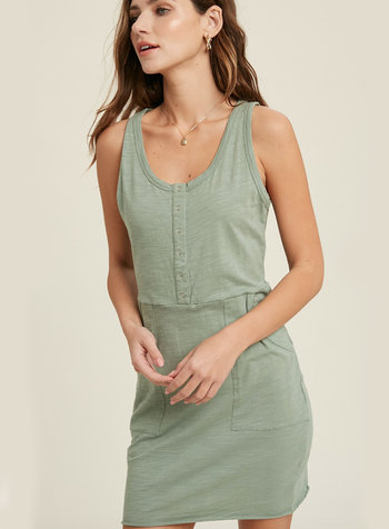 Emory Tank Button Front Dress