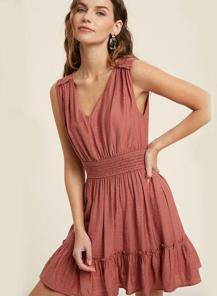 Thomas S/L VNeck Mini Dress