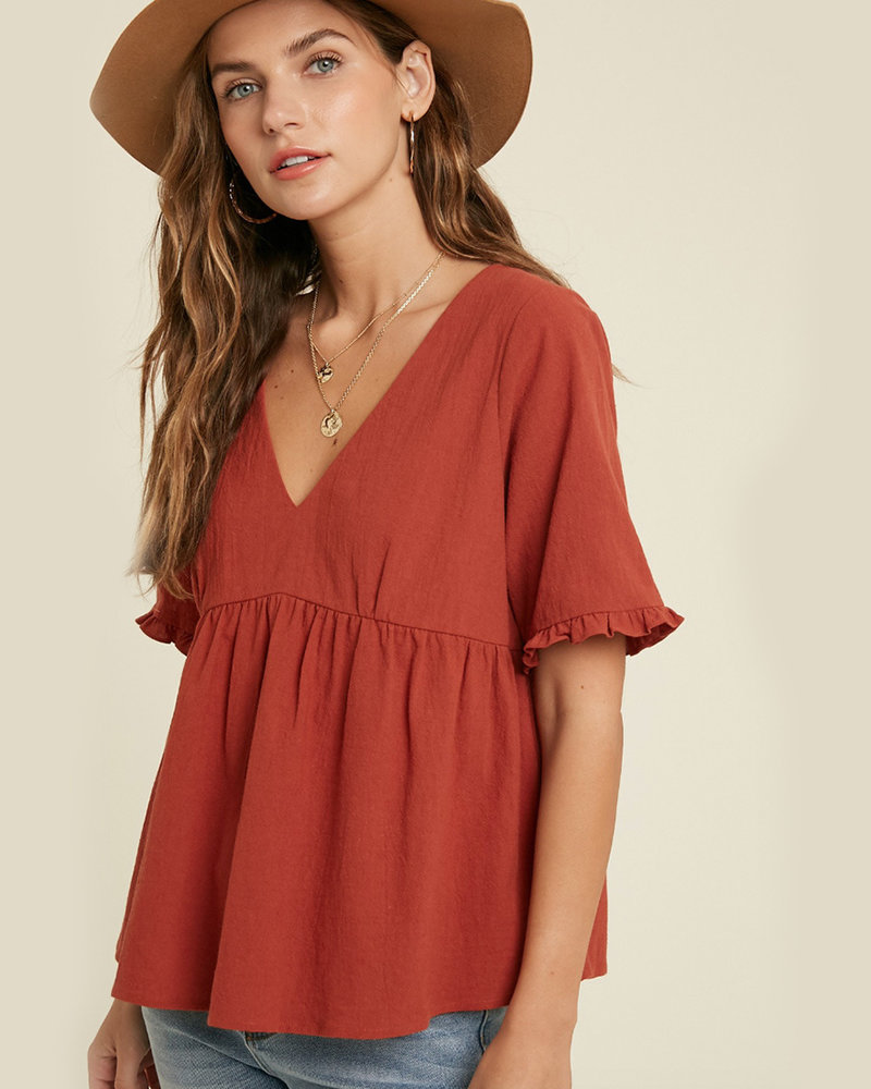 Kyle S/S Babydoll Top