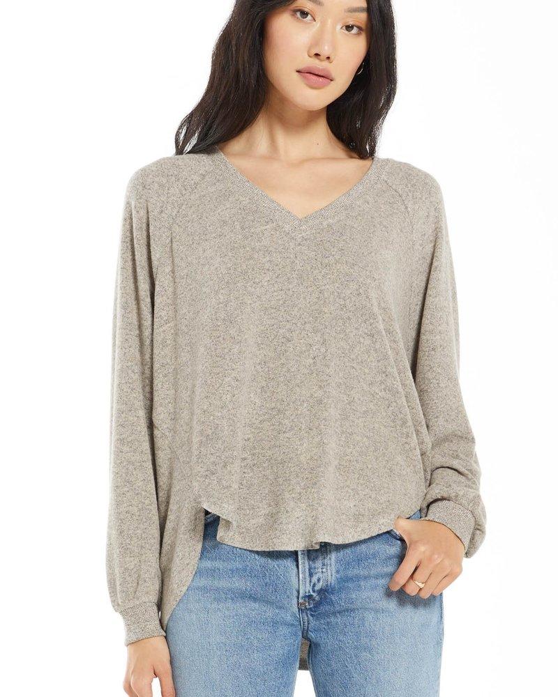 Z Supply - Plira Marled VNeck Pullover