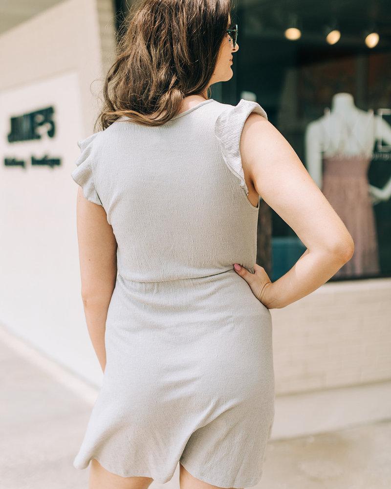 Teagan Ruffle Slv Mini Dress
