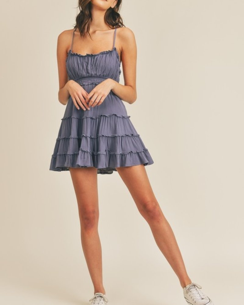 Owen Ruffle Tiered Slip Dress