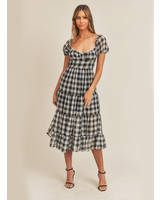 Atlas Gingham Midi Dress