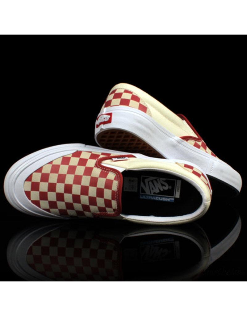 VANS Vans Slip On PRO Checkerboard Mineral Red