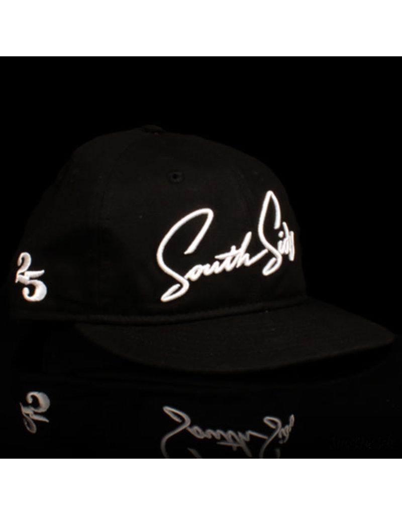 Southside Southside Hat New Era 950 Retro Crown Script Black White 25 Year Anniversary Snapback
