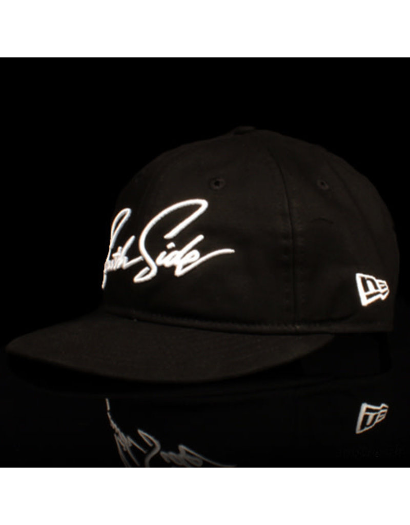 Southside Southside Hat New Era 950 Retro Crown Script Black White 25 Year Anniversary Snapback