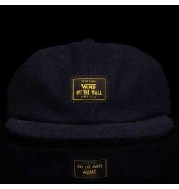 VANS Vans Hat Buckner Vintage 6 Panel Strapback Navy Wool