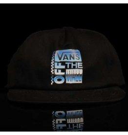 VANS Vans Hat AVE Shallow 6 Panel Snapback Black Screenprinted