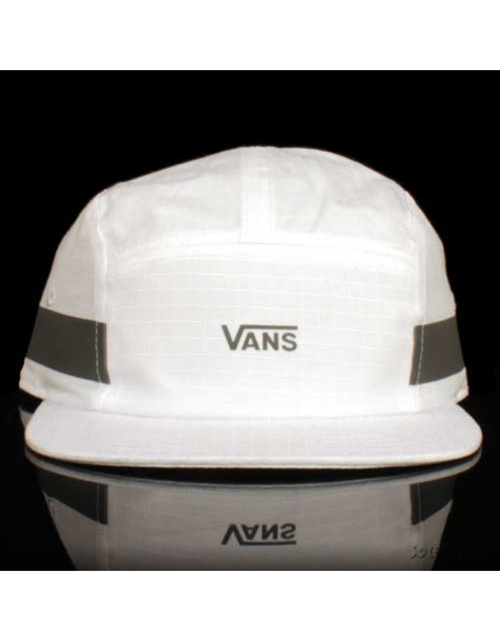 VANS Vans Hat Obstacle Camper 5 Panel Strapback with Reflective White Ripstop