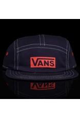 VANS Vans Hat Pro Stitched CA 5 Panel Strapback Navy Red White Stitch