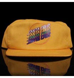Santa Cruz Hat Multi Strip Snapback Yellow Screenprinted