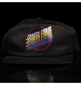 Santa Cruz Hat Multi Strip Snapback Black Screenprinted