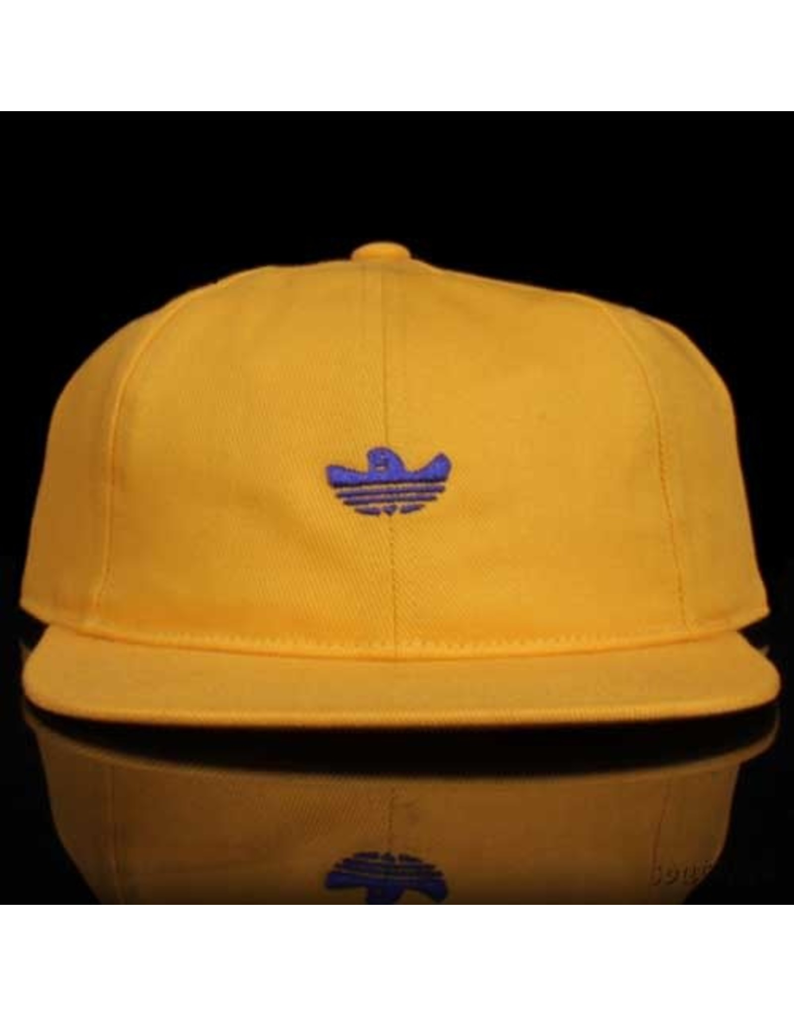 ADIDAS Adidas Hat Shmoo 6 Panel Strapback Yellow Blue Embroidery