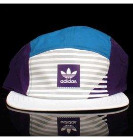 ADIDAS Adidas Hat Mitch 5 Panel Strapback Aqua Purple White Embroidery