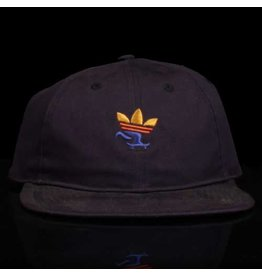 ADIDAS Adidas Hat Push 6 Panel Strapback Navy Embroidery