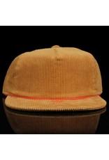 ADIDAS Adidas Hat Corduroy 6 Panel Strapback Camel Red Embroidery