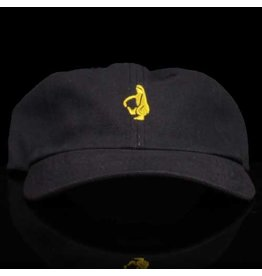Krooked Hat Shmoo 6 Panel Strapback Navy Yellow Embroidery