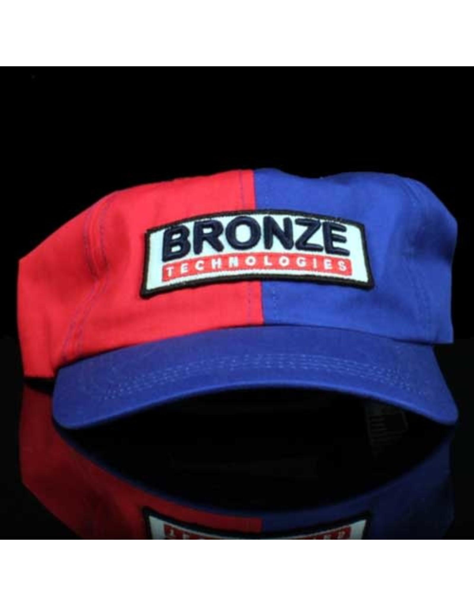Bronze 56k Hat Technologies 6 Panel Strapback Royal Red