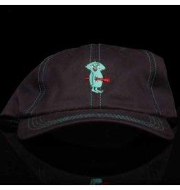 Bronze 56k Hat Bolt Boy 6 Panel Strapback Navy Aqua Embroidery