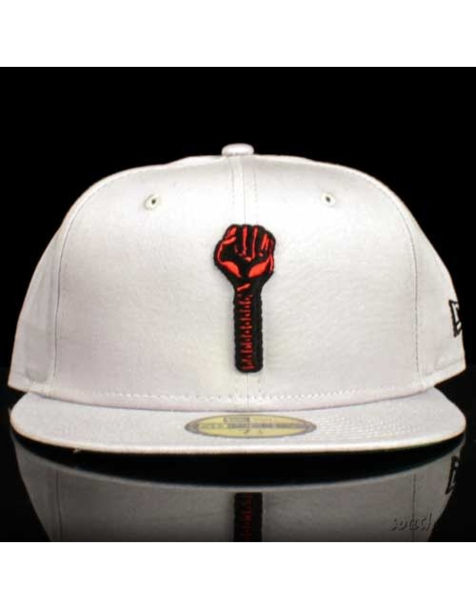 New Era x Hardies Gray Red Bolt Fitted