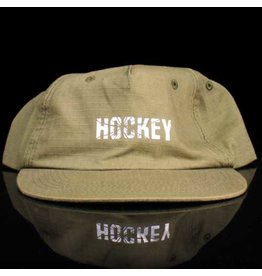 Hockey Hat 6 Panel Olive Ripstop Snapack 3M Icon