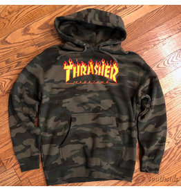 Thrasher Hoodie Camo Flame