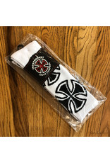 Indy Socks Size 9-11 Crosses White