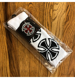 Indy Socks Size 9-11 Crosses White