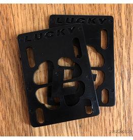 Lucky 1/8th Inch Riser Pad Black - Pair