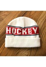 Hockey Beanie Stripe White