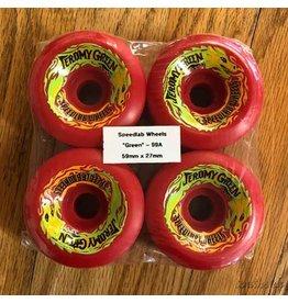 Speedlab Wheels Green Pro Red 59mm99A