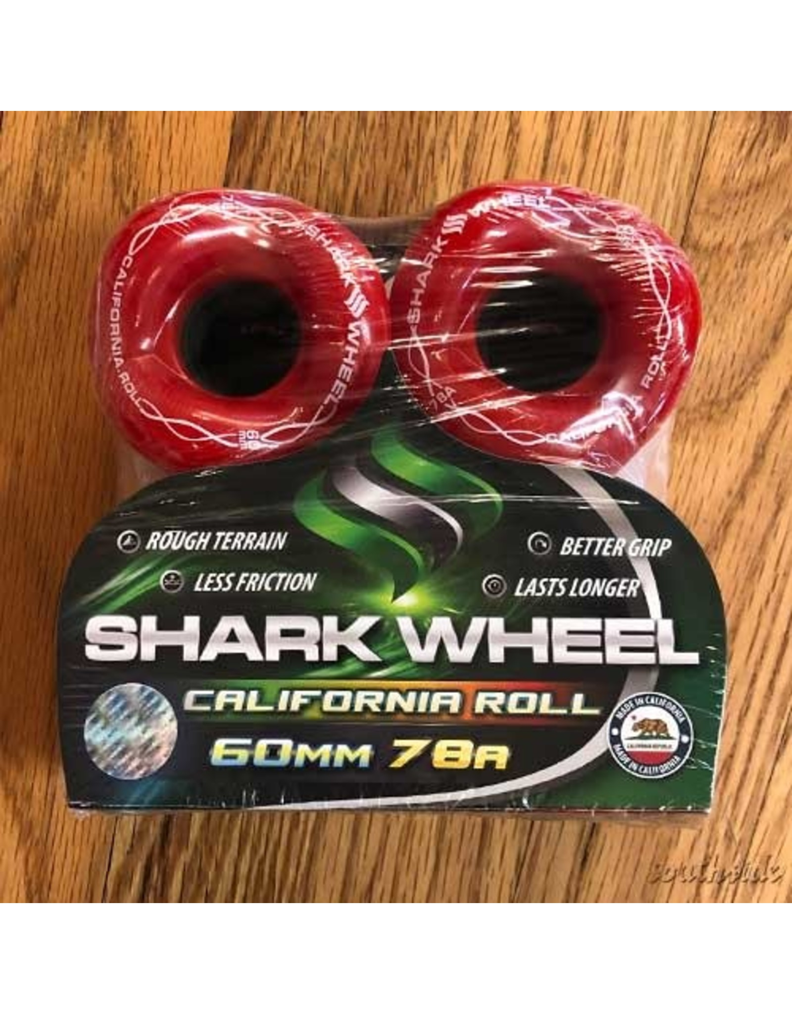 Shark California Roll Red 60mm78A