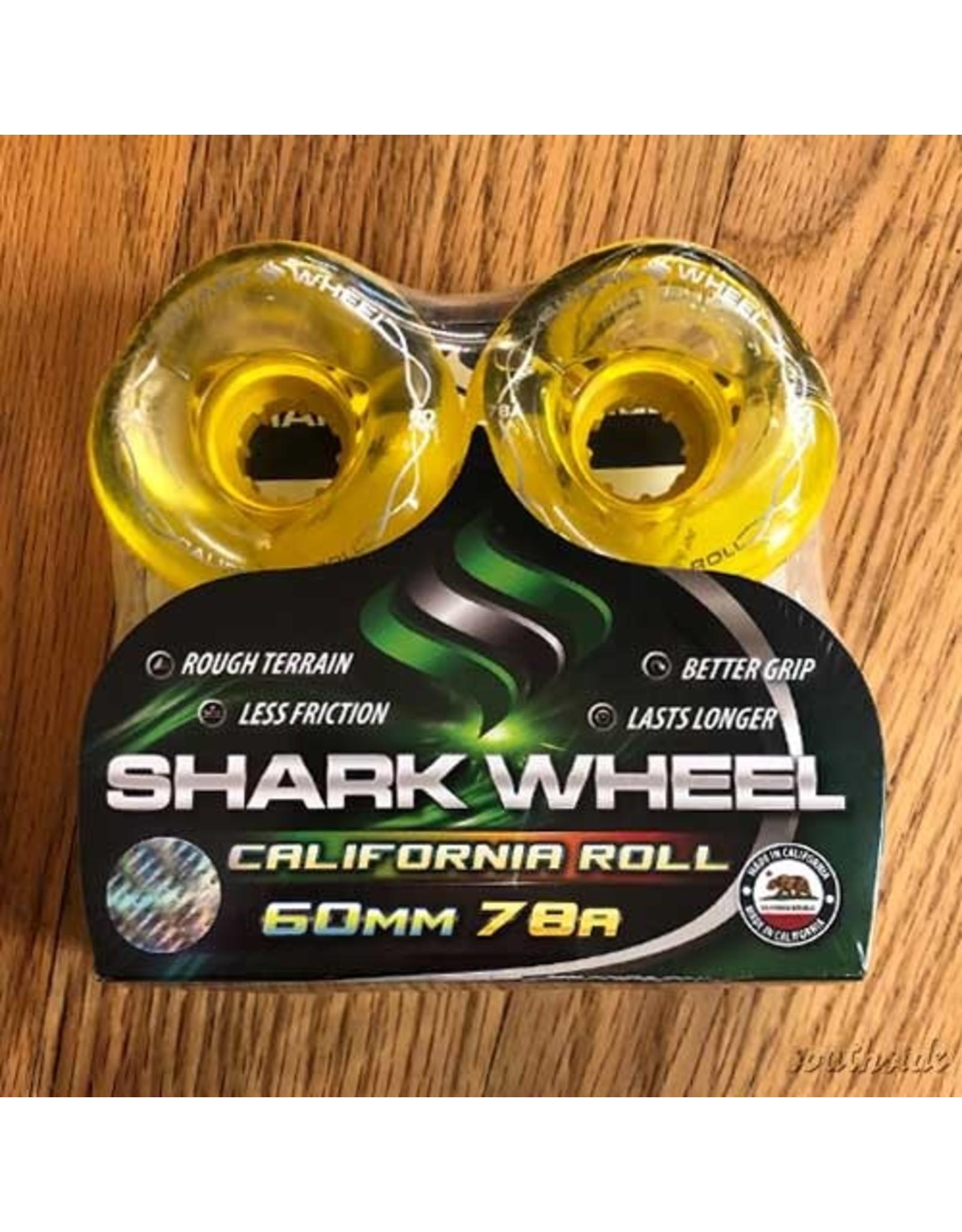 Shark California Roll Clear Yellow Hub 60mm78A