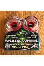 Shark California Roll Clear Red Hub 60mm78A
