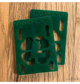 Lucky 1/8th Inch Riser Pad Green - Pair