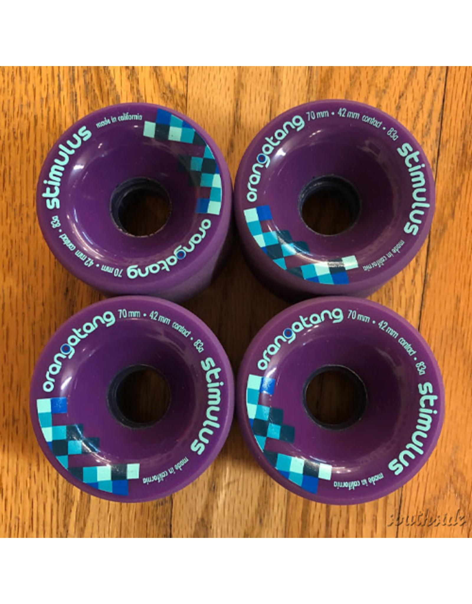 Orangatang Wheels Stimulus Purple 70mm83A