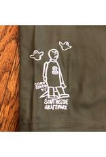 Southside Southside Gonz 94 Short Olive White Embroidered