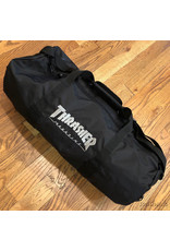 Thrasher Logo Duffel Bag Black with Board Straps