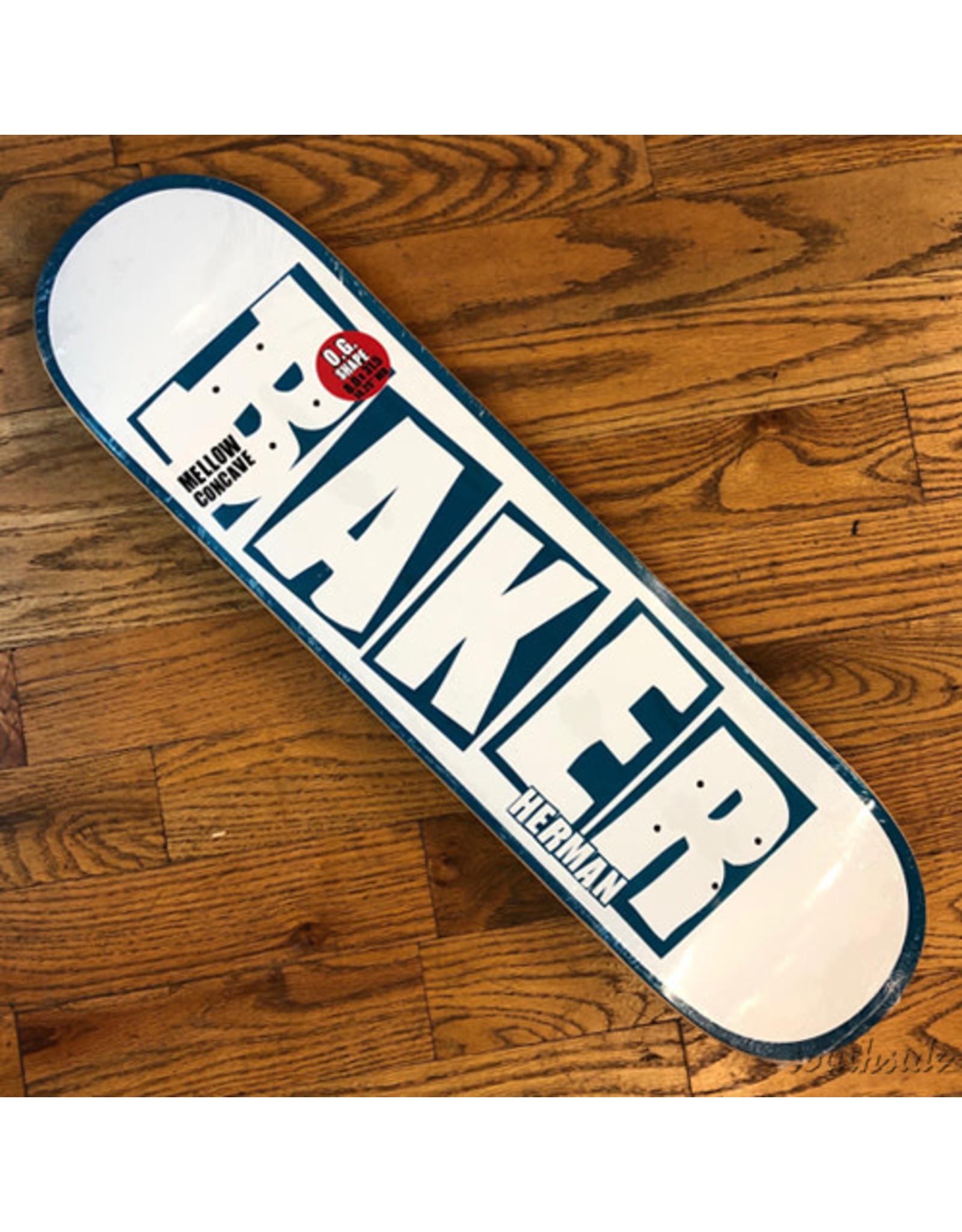 Baker Deck Brand Name Herman White Blue 8x31.5