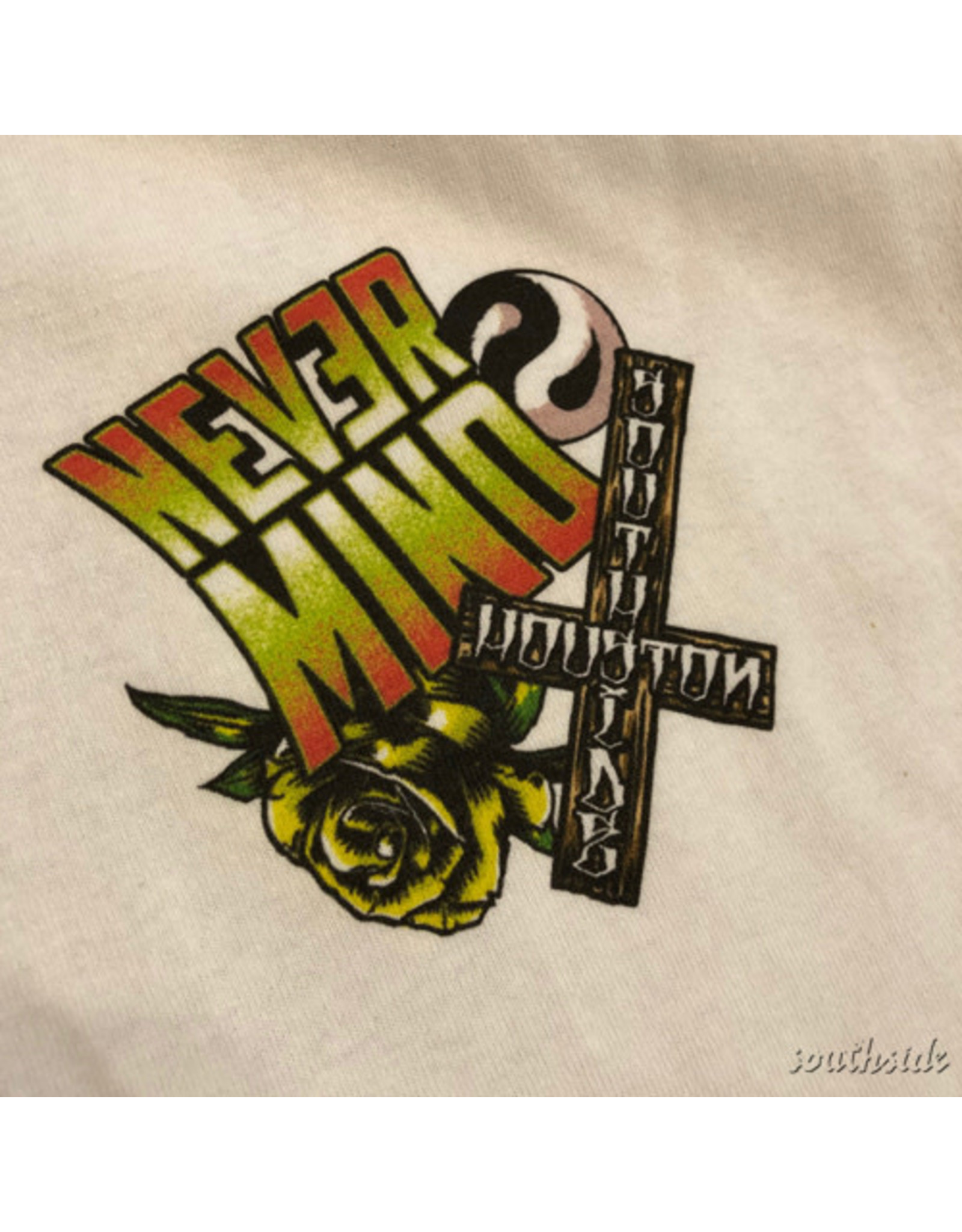 Southside Southside Nevermind Tee Cool Skull White