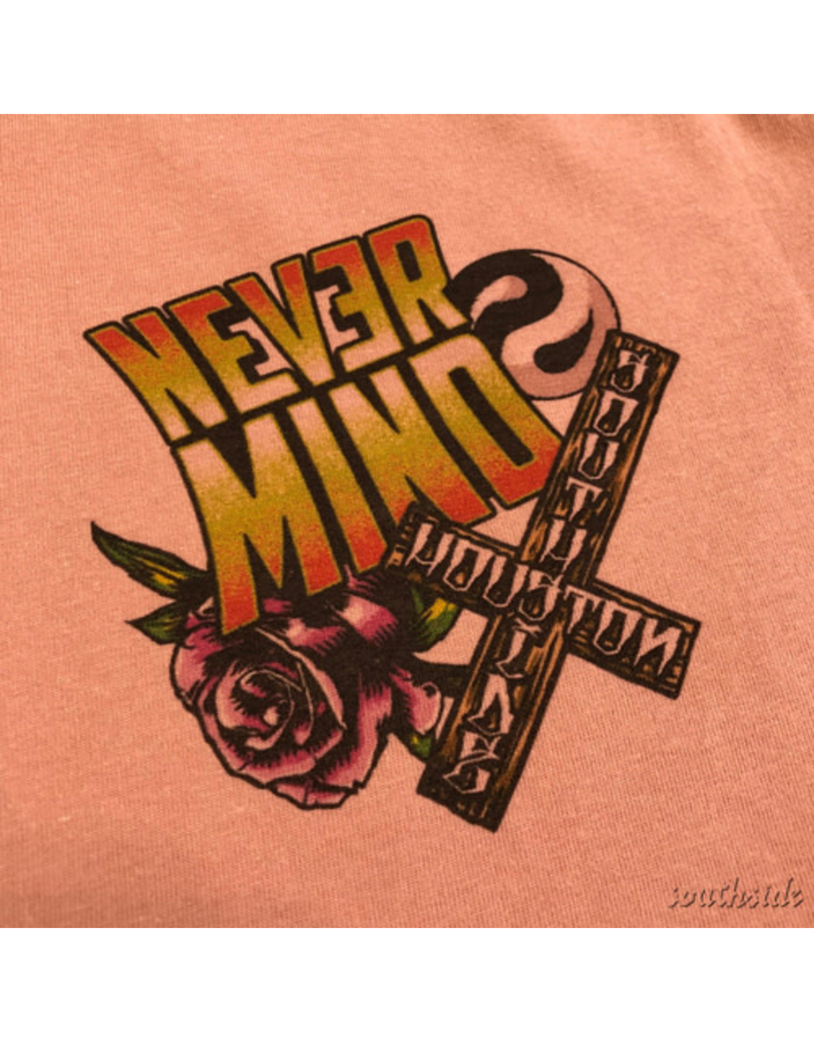 Southside Southside Nevermind Tee Cool Skull Dusty Rose