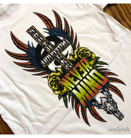 Southside Southside Nevermind Tee Warm Skull White