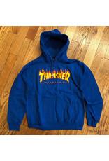 Thrasher Hoodie Blue Flame