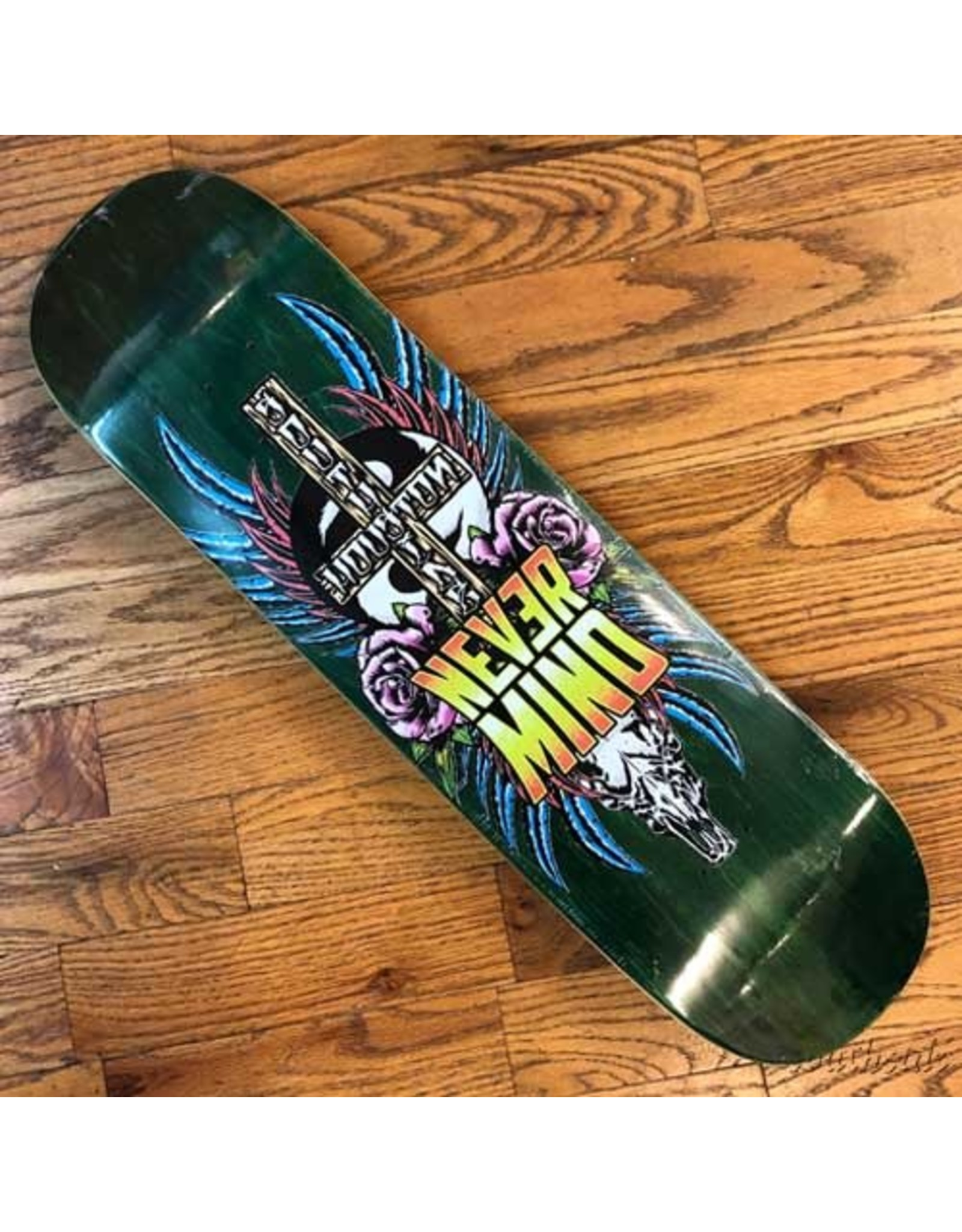 Southside Southside Nevermind Skateboards Deck 8.38x31.75 Pink Flowers Various Stained Veneer BOX Shape