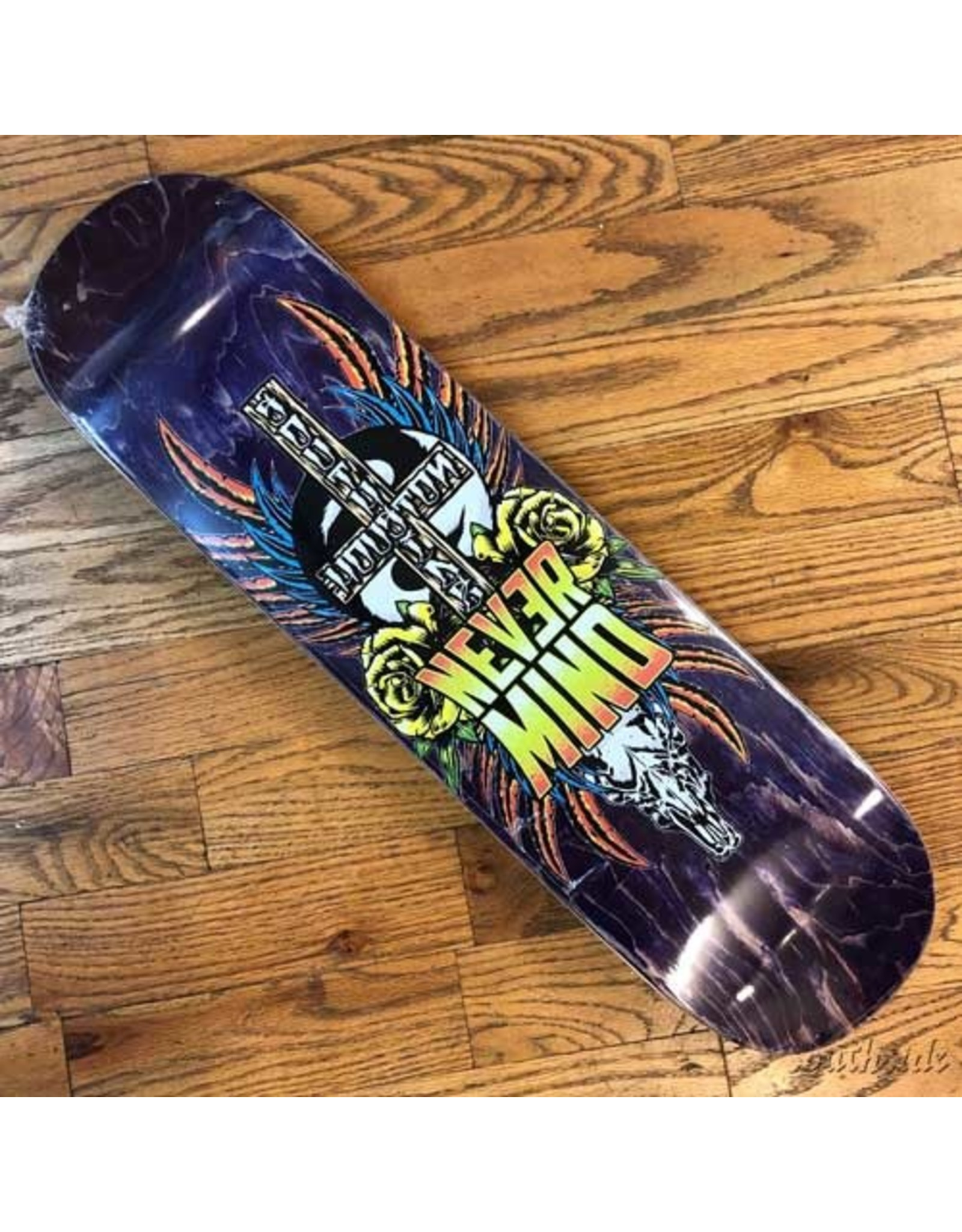 Southside Southside Nevermind Skateboards Deck 8.38x31.75 Yellow Flowers Various Stained Veneer BOX Shape