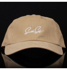 Southside Southside Hat Script Washed Faded Khaki