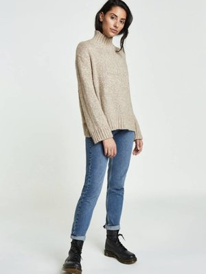 Backdrop Mock Neck Pullover